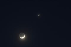 Moon and Venus 26 03 2012